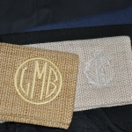 Monogrammed Clutches