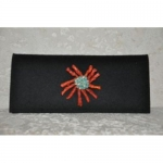Wool Clutch with Brooch